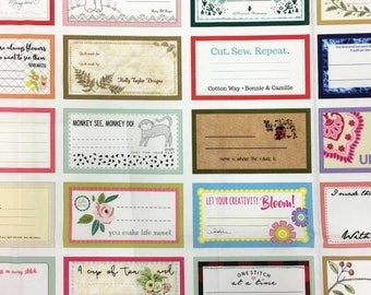 Designer Quilt Labels