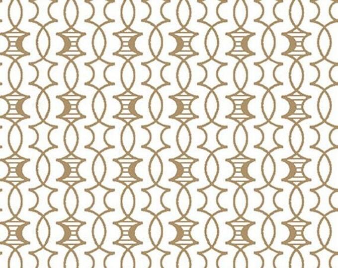 HEADS UP - Trellis in Tan - Cotton Quilt Fabric - Studio 8 for Quilting Treasures Fabrics - 24256-A (W4051)