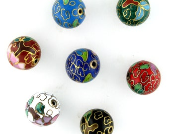 6mm Cloisonne Round Beads