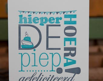 That the beep cheers-letterpress birthday card