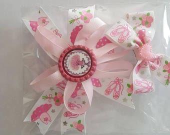 Ballet ballerina hair bow rosette and smaller bow set