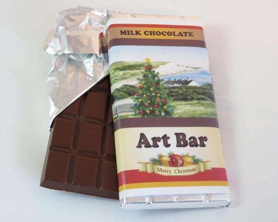 Christmas Art Bar, Milk Chocolate 100g