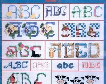 CROSS STITCH - Cross Stitch Alphabets - 120 Alphabets - Monogram Cross Stitch - Vintage Cross Stitch - Leisure Arts #2633