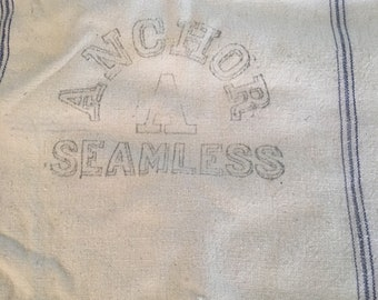 Vintage grain sack/farm/Anchor grain sack/seamless sack/heavy cotton sack/feed bag