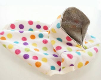 SALE!!! Size L ! Dog clothing/fleece polka dot tank with hoodie