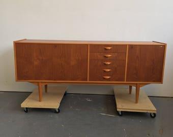 Vintage Danish Modern Teak Credenza / Sideboard - Free NYC Delivery!