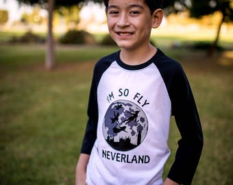Kids I'm So Fly I Neverland Shirt, Funny Kids Shirt, Trendy Kids Clothing,Shirt, Kids Tee, Kids Shirts, Toddler Shirt, Graphic tee, Hipster
