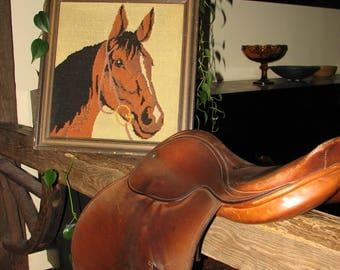 Leather Horse Saddle - Vintage - Made in England