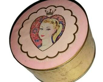 Vintage FAIRY PRINCESS Powder Box by Coty UNUSED 1950s Rare Pink Vanity 50s Bath & Beauty Jewelry Box Girly Decor Wedding Bridesmaid Gift