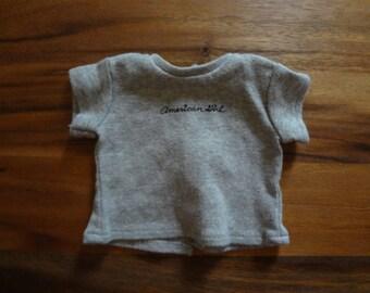 American Girl ~ Drawstring Cargos & Plaid Shirt: tee shirt