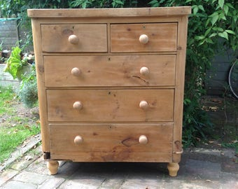 Sold Antique pine chest of drawers