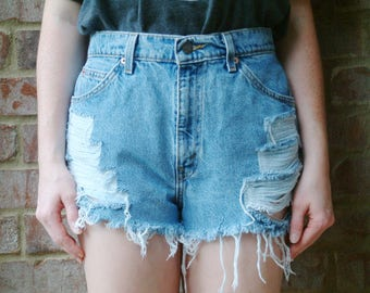 Levis 951s Vintage Denim High Waisted Shorts - S