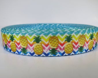 "5 yards of 7/8 inch ""pineapple"" grosgrain ribbon"