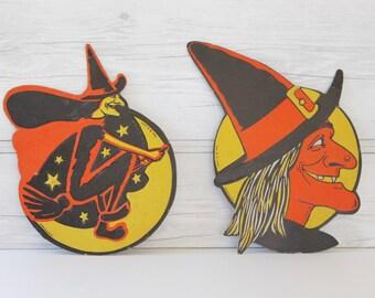 vintage halloween decorations etsy