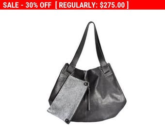 Handmade leather bags - Black leather bag- Soft leather bag - Tote bag- women bag - Carolina bag