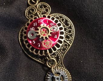 Steampunk Coggled Heart Pendant