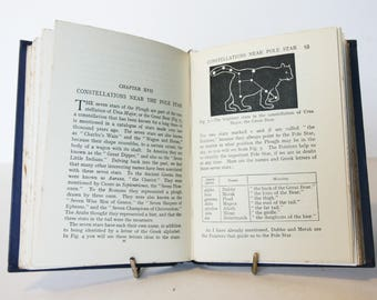 Starry Heavens Antique Vintage Astronomy 1930s Astronomical textbook rare old book Science