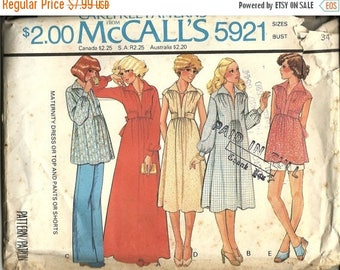 25% OFF McCalls 5921 Misses Maternity Dress,Top, Pants or Shorts     Size 12   C1978  Uncut