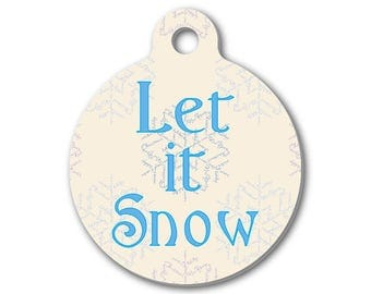 Let It Snow Charm | Birthday Gift | Christmas Gift | Stocking Stuffer | Create Your Own Necklace