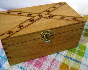 Handmade Wooden Box With Stars