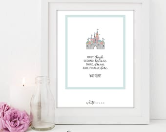 A4 Disney Series Print | Castle