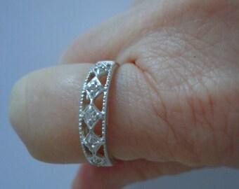 Avon Sterling Silver Ring Size 11, Avon Band Ring