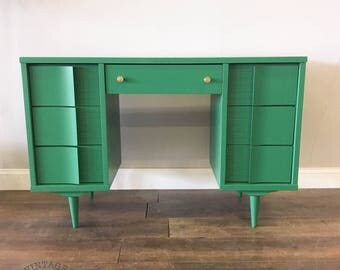 AVAILABLE: Green MCM Desk / Vanity