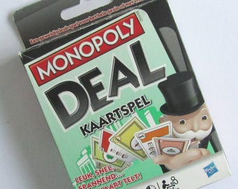 Monopoly Deal, Monopoly card game, Monopoly cards, Monopoly game, Monopoly set, Hasbro, 2008, Monopoly