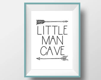 Little Man Cave Print, Little Man Cave Nursery Print, Boy Nursery Wall Decor, Digital Prints, Boho Nursery Decor, Baby Shower Gift