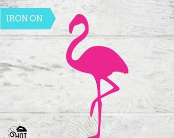 Flamingo - Iron On - Decal - Applique - DIY - Craft Supply - Canvas - Pineapple Princess - T Shirt - Tank Top - Tote Bag - Pillow -Babies