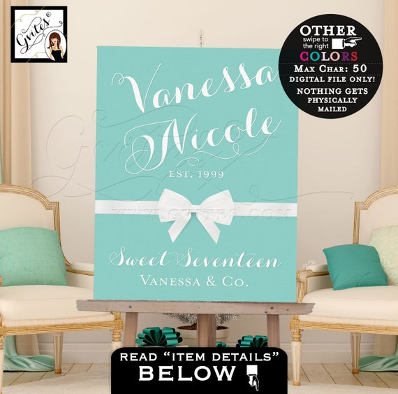 Sweet 16 Welcome Sign, birthday banner poster signs, pink welcome signs, banners, decorations, customizable colors & text.  PRINTABLE