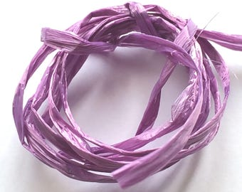 Lilac colored raffia
