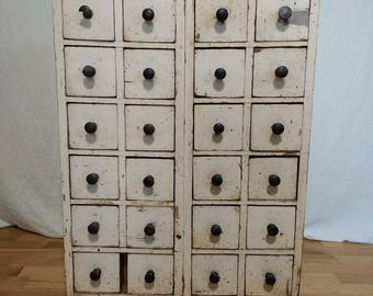 Antique Primitive Apothecary Chest; free shipping to Continental US via Greyhound