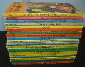 Set of 21 Crafts/Hobbies Themed Ladybird Books.  Mostly Good-VG condition