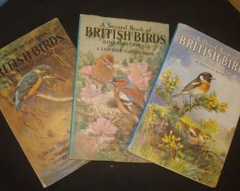 British Birds and their Nests, with DJs Complete 3 Volume Ladybird Nature Set,
