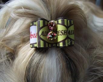 Canada Dog Hair Bow 7/8 inch