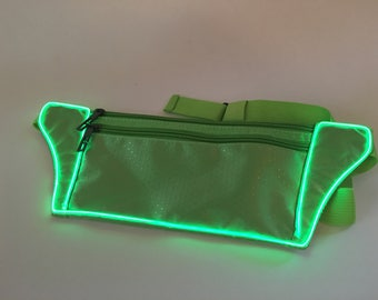 Light Up Green Fanny Pack El wire