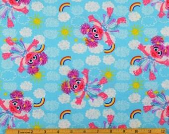 Sesame Street Fabric Abbie Cadabby Fabric From SPX 100% Cotton