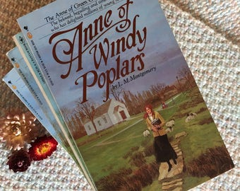Anne of Green Gables: Anne of Windy Poplars, book 4, classic novel, by LM Montgomery