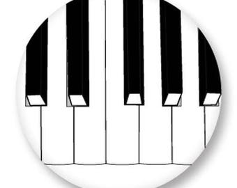 X 1 Cabochon 25mm metal piano key