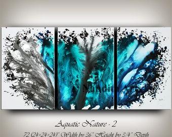 Blue Modern Art, ABSTRACT PAINTING, Large Wall Art, Modern Painting Original Landscape, Modern Artwork Modern Wall Art Home Decor Nandita