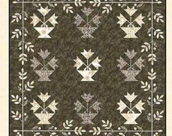 Winter Lily Quilt Pattern - Edyta Sitar - Laundry Basket Quilts - LBQ 0235