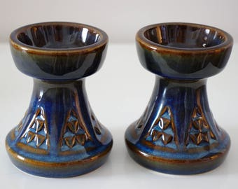 Søholm Denmark Candlesticks - Blue Series - Designed by Einar Johansen