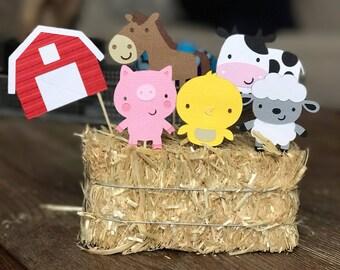 Farm Animals cupcake toppers, Farm/Farm Theme Party
