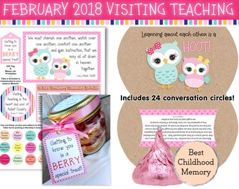 February 2018 Visiting Teaching Printables, LDS Relief Society, Instant Download