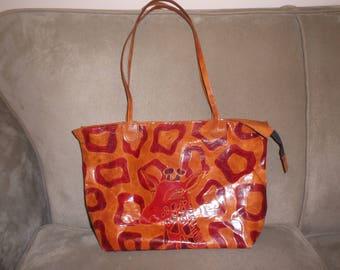 Vintage Leather Giraffe Handbag
