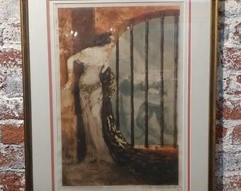 Louis Icart - Dalila & Samson -original 1929 Etching -Pencil Signed