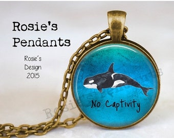 Orca Necklace Etsy
