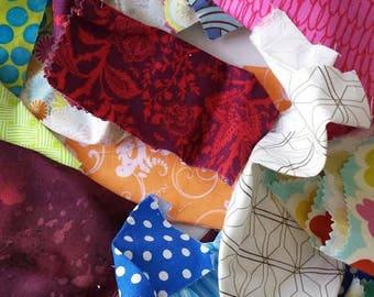 Designer Cotton Children's Fabric Scraps,Fabric Strips, Fabric Pieces, Remnants, Scrap Bag, Fast Shipping,M235