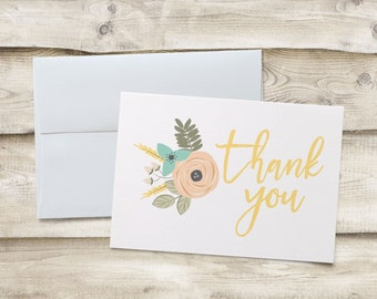 Baby Shower Thank You Cards, Baby Shower Thank You Note Cards, Wedding Shower Thank You Cards, Wedding Shower Thank You Note Cards